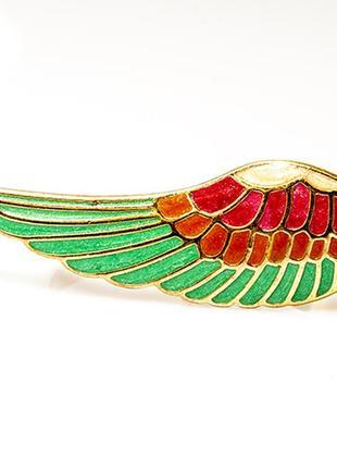 Кольцо на 2 пальца крыло райской птицы