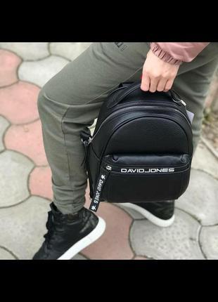 Городской рюкзак с логотипом david jones 5989-2t черный