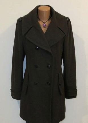 Шерстяное стильное пальто бушлат от marie lund размер: 46-48, m