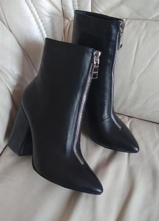 Ботинки на змейке демисезон сапоги