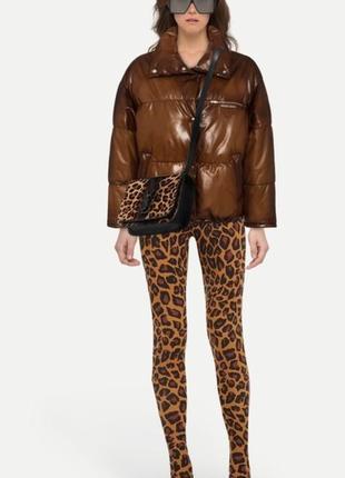 Шикарные леопардовые сапоги