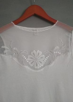 Нежная блузка.  нарядная майка.  бельевой стиль.  топ