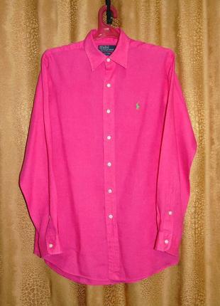 Ralph lauren - лён - шикарная брендовая рубашка - m - l