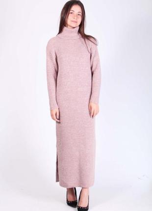Тёплое платье оверсайз