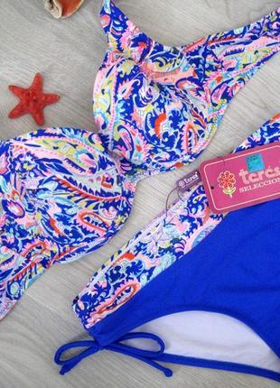 Купальник женский teres,плавки слип,разноцветный