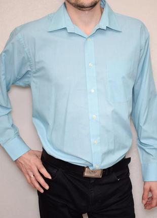 Мужская оригинальная рубашка bhs нежного голубого цвета длинный рукав