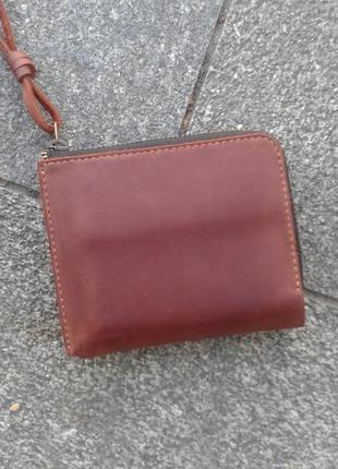 4a5405691ce8 Кожаный кошелек портмоне бумажник, 100% натуральная кожа, унисекс