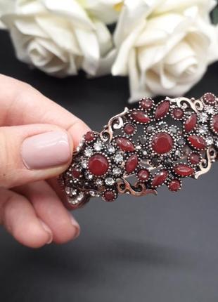 Шикарнейший браслет турецкое диво красный
