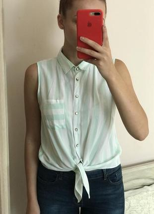 Стильная рубашка блузка в полоску от atmosphere размер s m