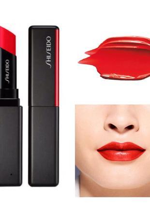 Shiseido помада для губ с невесомым покрытием visionairy gel 218