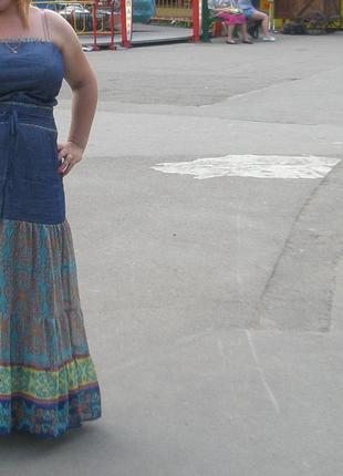 Джинсовое платье! ( подойдет и для беременных)