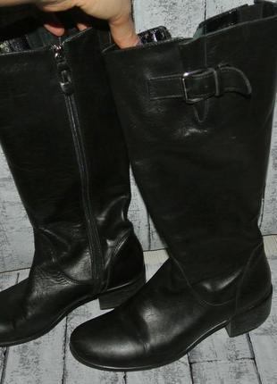 Сапоги кожаные 38р. демисезонные