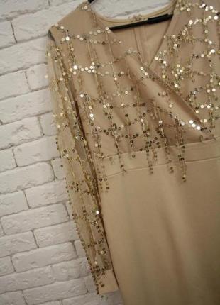 Платье миди с паетками