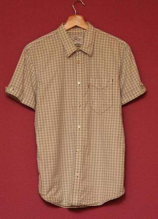 Levis рр m slim fit рубашка из хлопка, перламутровые пуговицы