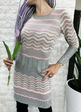 Вязаное платье ручная работа