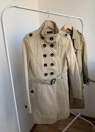 Пальто,плащ,куртка,бежевая тренч френч