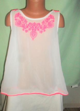 Блузка на 9-10лет с вышивкой