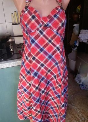 Платье клетка новое