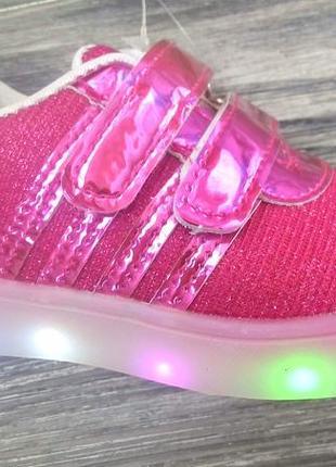 Акция  кроссовки ортопедическая стелька кожа led подстветка свет лампы