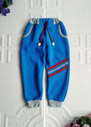 Спортивные утепленные брюки на флисе