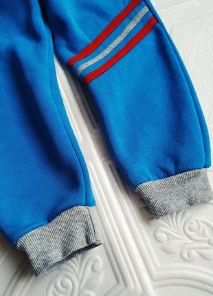 Спортивные утепленные брюки на флисе2 фото