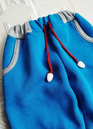 Спортивные утепленные брюки на флисе3 фото
