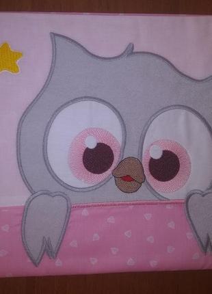 Комплект постельного белья тм ярослав розовый с совушкой
