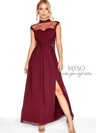 Выпускное платье цвета марсала little mistress