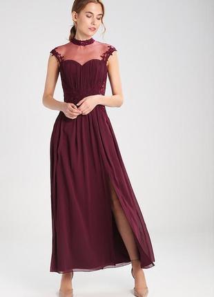 Выпускное платье винного цвета британского бренда платьев little mistress2