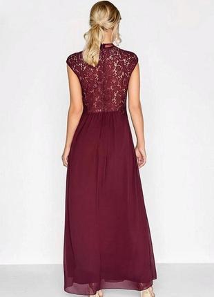 Выпускное платье винного цвета британского бренда платьев little mistress5
