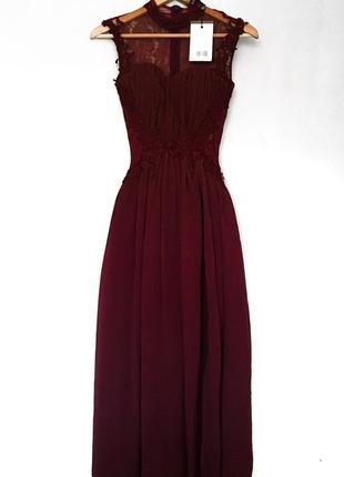 Выпускное платье винного цвета британского бренда платьев little mistress3