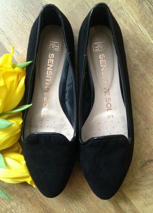 Замшевые туфли лоферы балетки