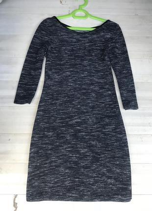 Актуальное меланжевое платье