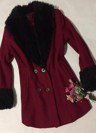 Фирменное пальто цвета марсала,vr moda, оригинал