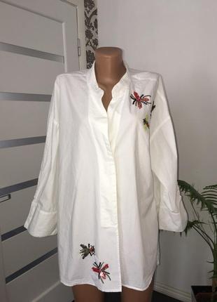 Zara  блузка вышивка бисером