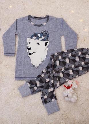 Очаровательная пижамка для мальчика - северный мишка tom john (турция)