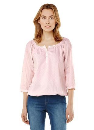 Новая нежно-розовая пудровая блузочка тсм, чибо, евро 36-38