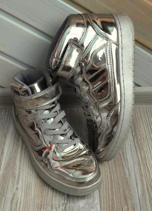Сникерсы кроссовки ботинки зеркальные cult италия (40)