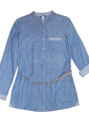 Новое джинсовое платье-рубашка для девочки, ovs kids, 8736234