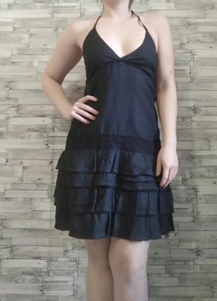 Летнее бохо платье с уникальным составом ткани