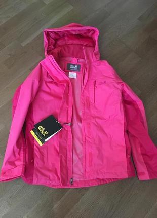 Jack wolfskin новая куртка оригинал! ветровка спортивная женская s