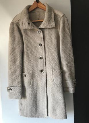 Вязаное пальто gas100% шерсть