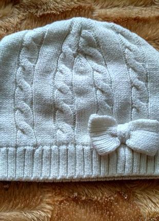 Ніжна весняна шапочка з бантиком matalan шапка