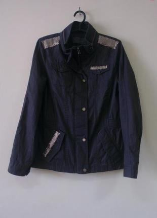 Стильная  куртка котоновая ветровка пиджак s.oliver, 38