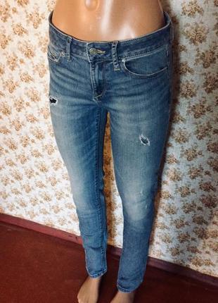 Стильные джинсы рваные esprit размер s 12105059