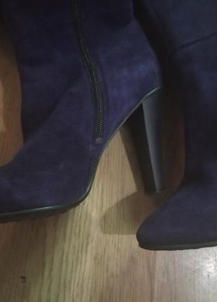 Glamour замшевые фирменные сапоги6 фото