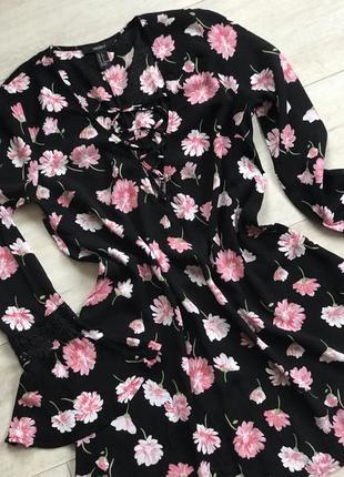 Стильна рубашка в квіти