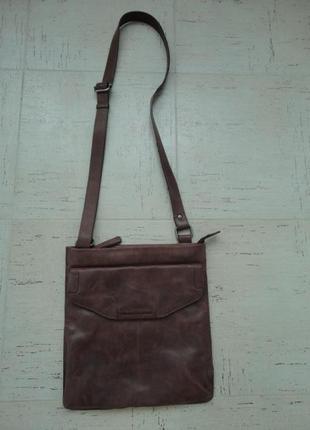 Кожаная мужская сумка maanii by adax в идеальном состоянии