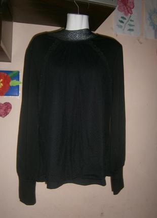 Новый гольф с гипюром черный allegra k 50-54 размер свитер
