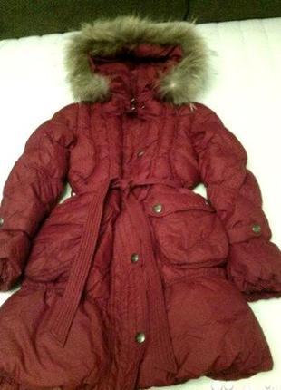 Пуховик пальто кико kiko 158 пух куртка для девочки